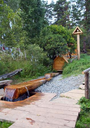 Sacred Source Healer Panteleimon Maly Bor near Elabuga summer Stock Photo - 29219955