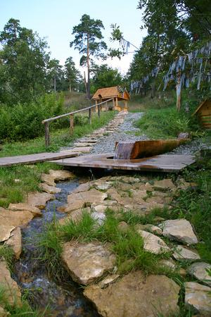 Sacred Source Healer Panteleimon Maly Bor near Elabuga summer Stock Photo - 29220588