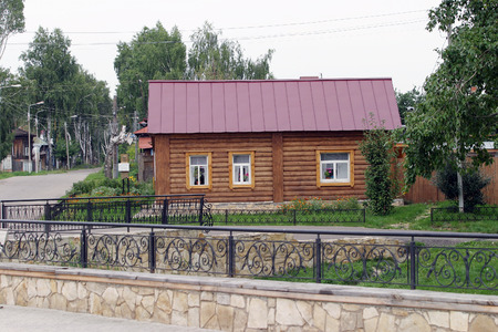 elabuga: cityscape House-Museum of Marina Tsvetaeva in Elabuga summer cloudy day