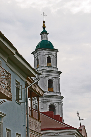 elabuga: cityscape Spassky Cathedral Elabuga summer cloudy day Stock Photo