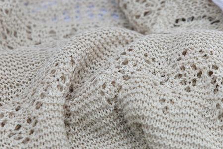 openwork: macro texture knitted openwork handmade clothes Stock Photo