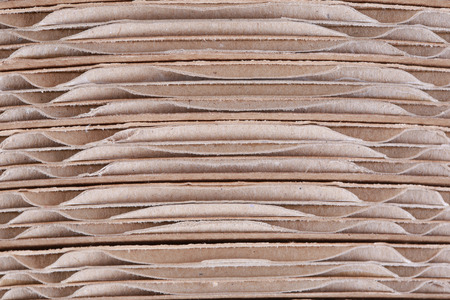 sectional: Macro texture of cardboard in the sectional of the folded in several layers Stock Photo