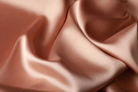 cream color: macro texture of satin fabric cream color studio Stock Photo