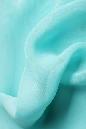 macro texture fragment of tissue aqua, studio Stock Photo