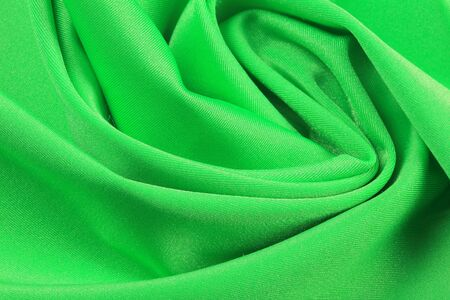 chiffon: macro texture of the folds fabric green chiffon studio Stock Photo