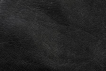 Makro Textur Fragment aus schwarzem Leder Studio