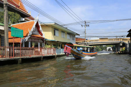 boating: BANGKOK, THAILAND - December 15, 2014: boating on the Chao Phraya River December 15, 2014 in Bangkok, Thailand