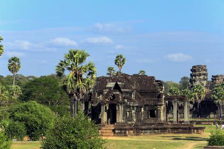 vishnu: summer landscape Angkor - Hindu temple complex dedicated to the god Vishnu Stock Photo