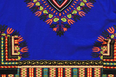 an embroidery: la textura fragmento macro de tela con un patr�n en el estilo de bordado