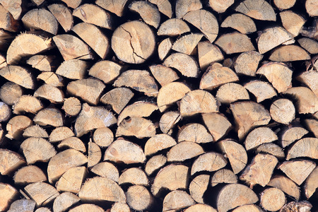 stack of firewood: macro isolated texture stack of firewood Stock Photo