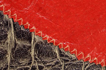 mottled skin: macro texture fragment multi colored leather studio Stock Photo