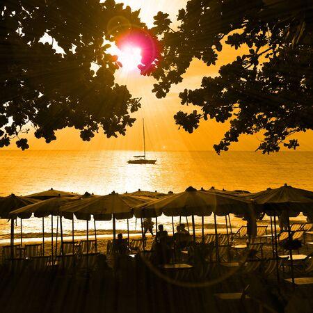 december 21: Pattaya, Thailand - December 21: seaside holiday on the beach December 21, 2014 in Pattaya, Thailand.