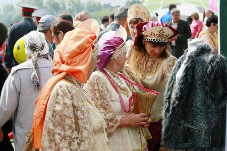 spasskaya: Yelabuga, Russia - August 3, 2014: The annual Spasskaya Fair on Shishkin Ponds in Yelabuga.