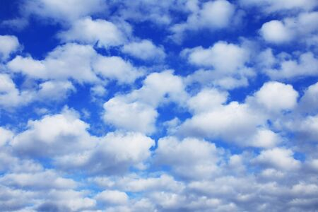 cumulus: landscape beautiful cumulus clouds against a blue sky on a sunny day