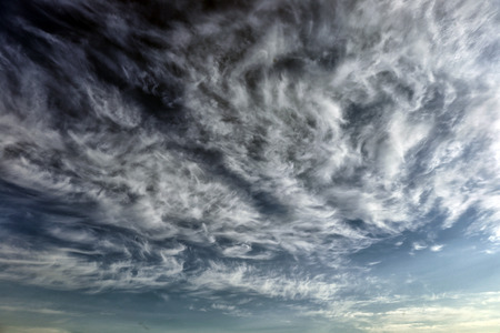 cirrus clouds with blue sky background