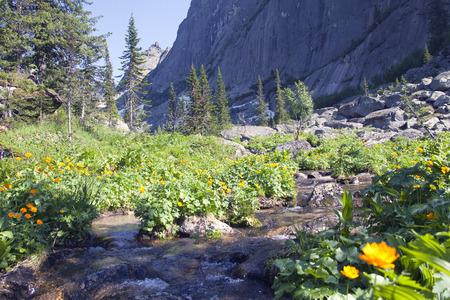 catchment: mountain landscape Stock Photo