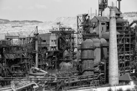 severely: the old plant, industrial landscape, metal, severely Stock Photo