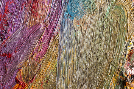 oilpaint: Background image of bright oil-paint palette closeup