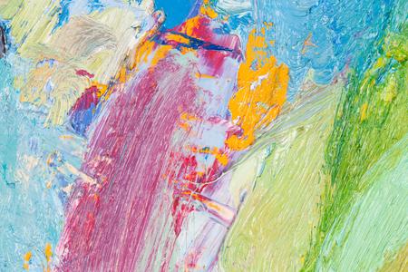 oilpaint: Background image of bright oil-paint palette closeup