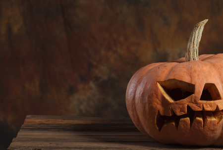 Halloween pumpkin,Scary Halloween pumpkin,Halloween theme Stock Photo