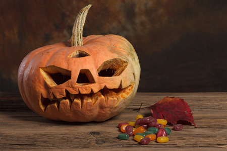 Halloween pumpkin,Scary Halloween pumpkin,Halloween theme Stok Fotoğraf