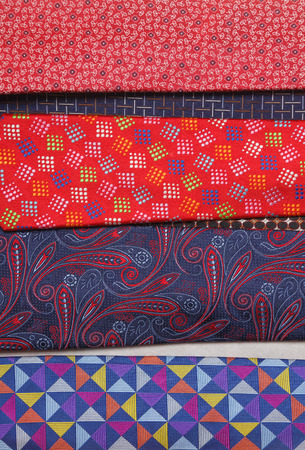neck ties: collection of neck ties close up