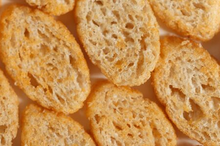 alcohol series: Texture lined bread crisps