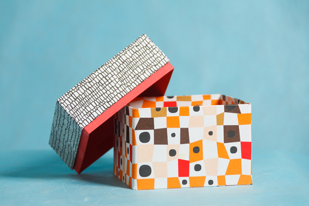 Gift color box on the plain background