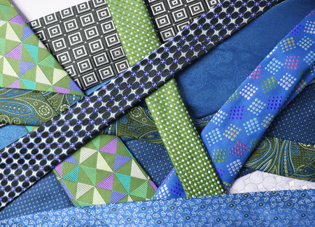 collection of neck ties close up Stok Fotoğraf - 58741629