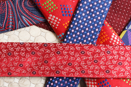 collection of neck ties close up Stok Fotoğraf - 58741681