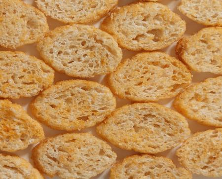 テクスチャ並んでパン ポテトチップス 写真素材
