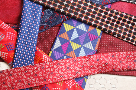 collection of neck ties close up Stok Fotoğraf - 58741751