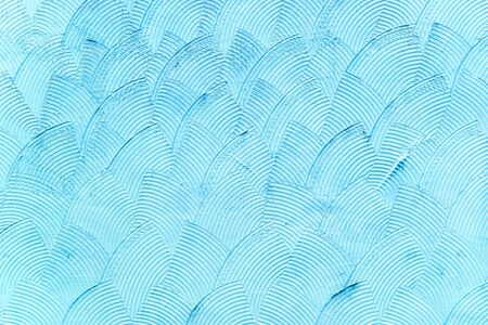 Cool-background texture of decorative stucco of blue color with a beautiful pattern and pattern Foto de archivo