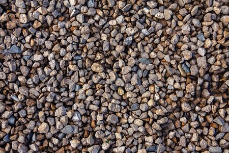Texture of small crushed stone close up