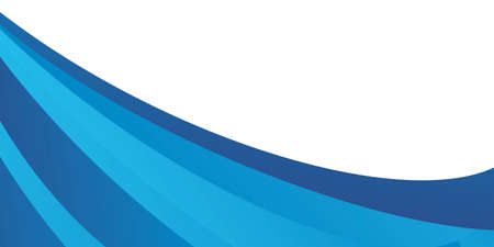 Abstract blue wave background for presentation design