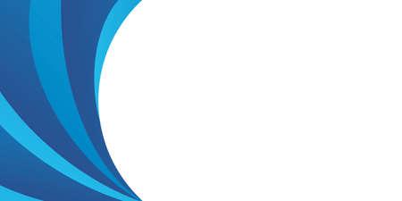 Abstract blue wave background for presentation design