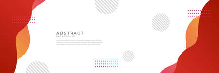 Hi-tech red corporate abstract background. Geometric vector design Ilustração