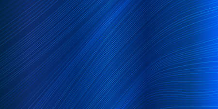Vector wave lines flowing dynamic in blue navy colors isolated on black background for concept of AI technology, digital, communication, science, music Vetores