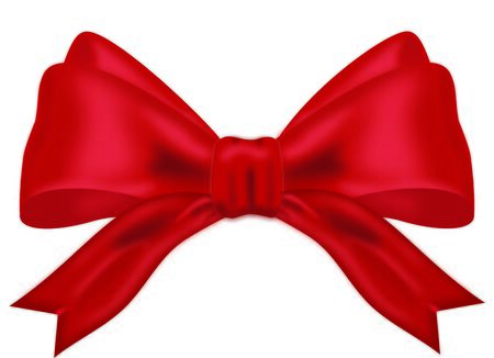 red bow: Realistic Red Bow  Illustration on White Background