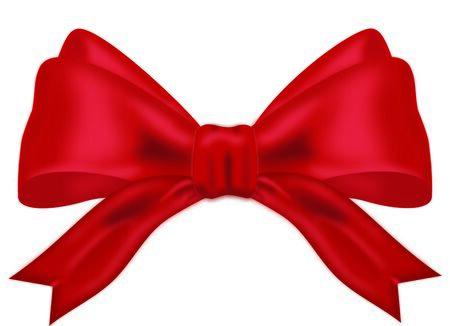 Realistische Red Bow illustratie op witte achtergrond Stockfoto