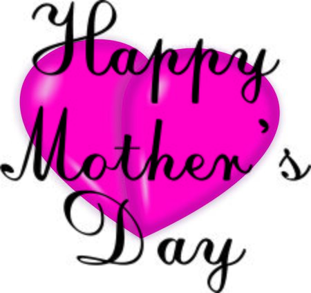 mothersday: Mothers day greeting on pink 3d heart
