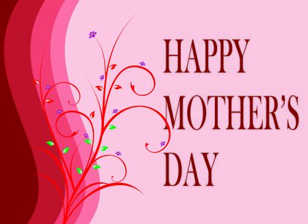 mothersday: Mothers day greeting with floral design on pink background