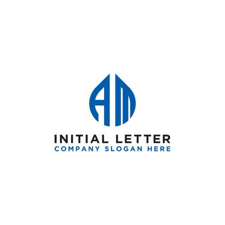 logo design inspiration for companies from the initial letters of the AM logo icon. -Vector