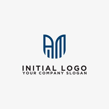 logo design inspiration for companies from the initial letters of the AM logo icon. -Vector Logo