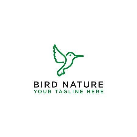 natural bird icon vector template logo design, - vector