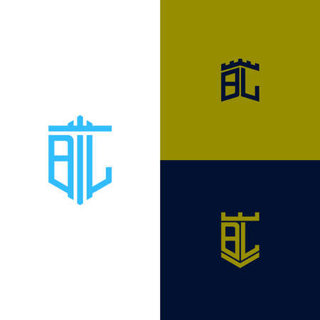Inspiring design Set, for companies from the initial letters of the BL icon. -Vectors
