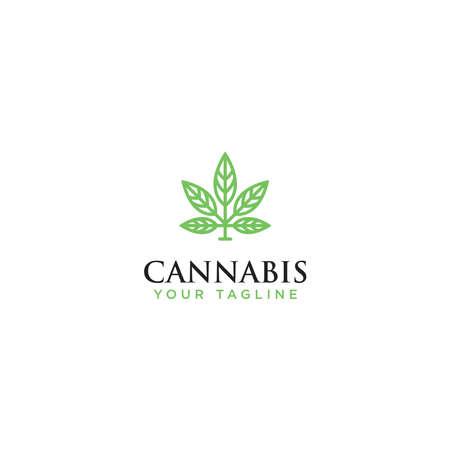 Marijuana Design Logo health icon, Vector Template - Vector