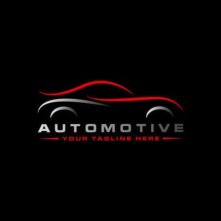 Vector Car Wash Logo, car automobiler or race car or automotive design - Vector Logo