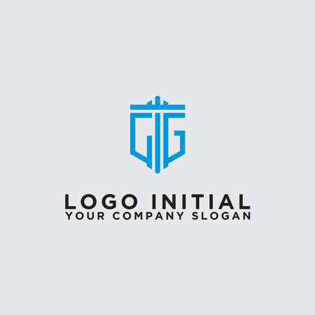logo design inspiration for companies from the initial letters of the CG logo icon. -Vector
