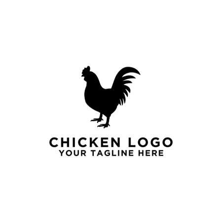 collection of cattle logo vector. Chicken design. - Vector
